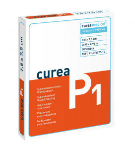 Curea P1 SuperCore wondverband 7,5 x 7,5 cm steriel 10St.