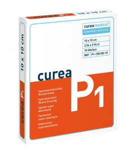 Curea P1 SuperCore wondverband 10 x 10 cm steriel 10St.