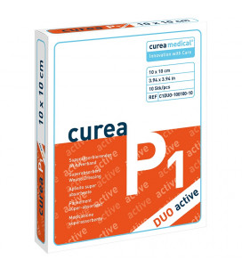 Curea P1 SuperCore wondverband Duo active 10 x 10 cm steriel 10St.