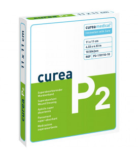 Curea P2 SuperCore wondverband 11 x 11 cm steriel 10St.