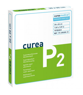 Curea P2 SuperCore wondverband 20 x 20 cm steriel 10St.